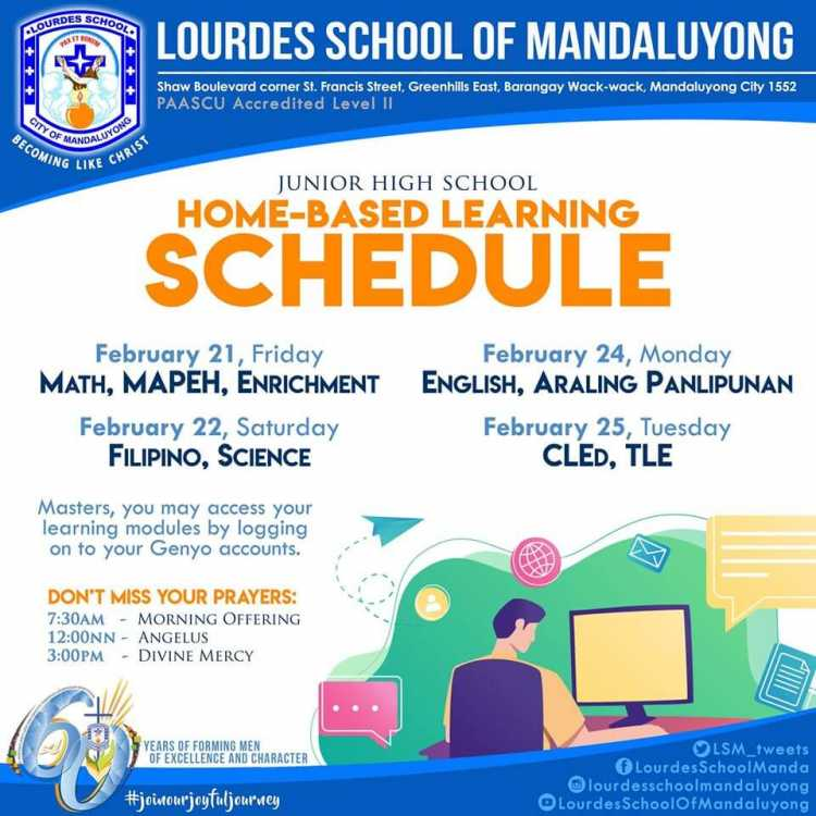 Home Base Learning Schedule