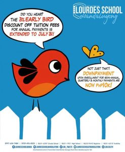 The 3% Early Bird Discount of Tuition Fees