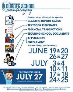 Pax et bonum! Essential offices of Lourdes School of Mandaluyong