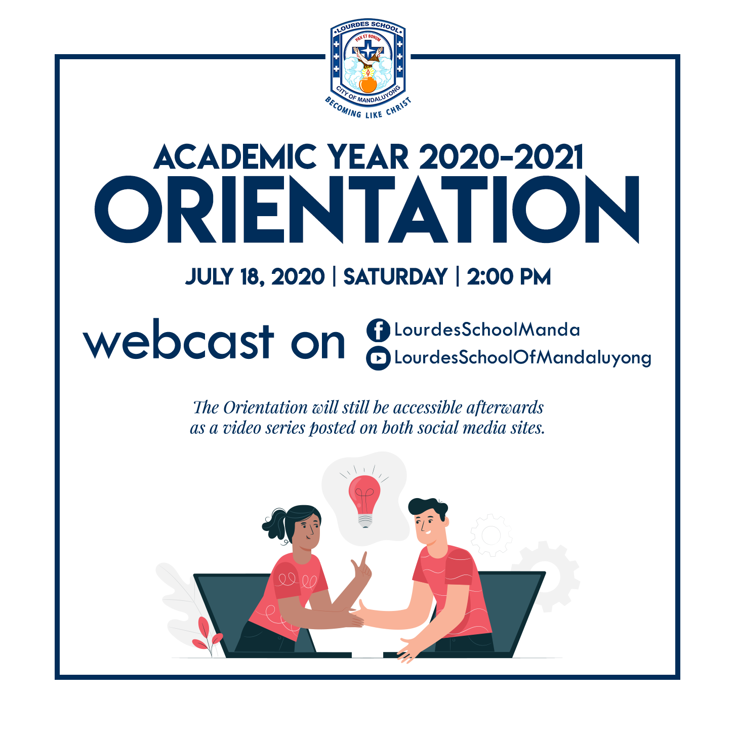 Academic Year 2k20 - 2k21 Orientation