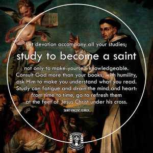 Study to become a saint