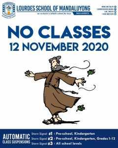 No Classes November 12 2020
