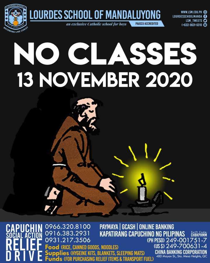 No Classes November 13 2020