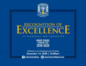 Recognition of Excellence in Academics and Character Grade School Academic Year 2019 - 2020