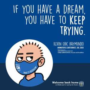 If you have a dream, you have to keep trying