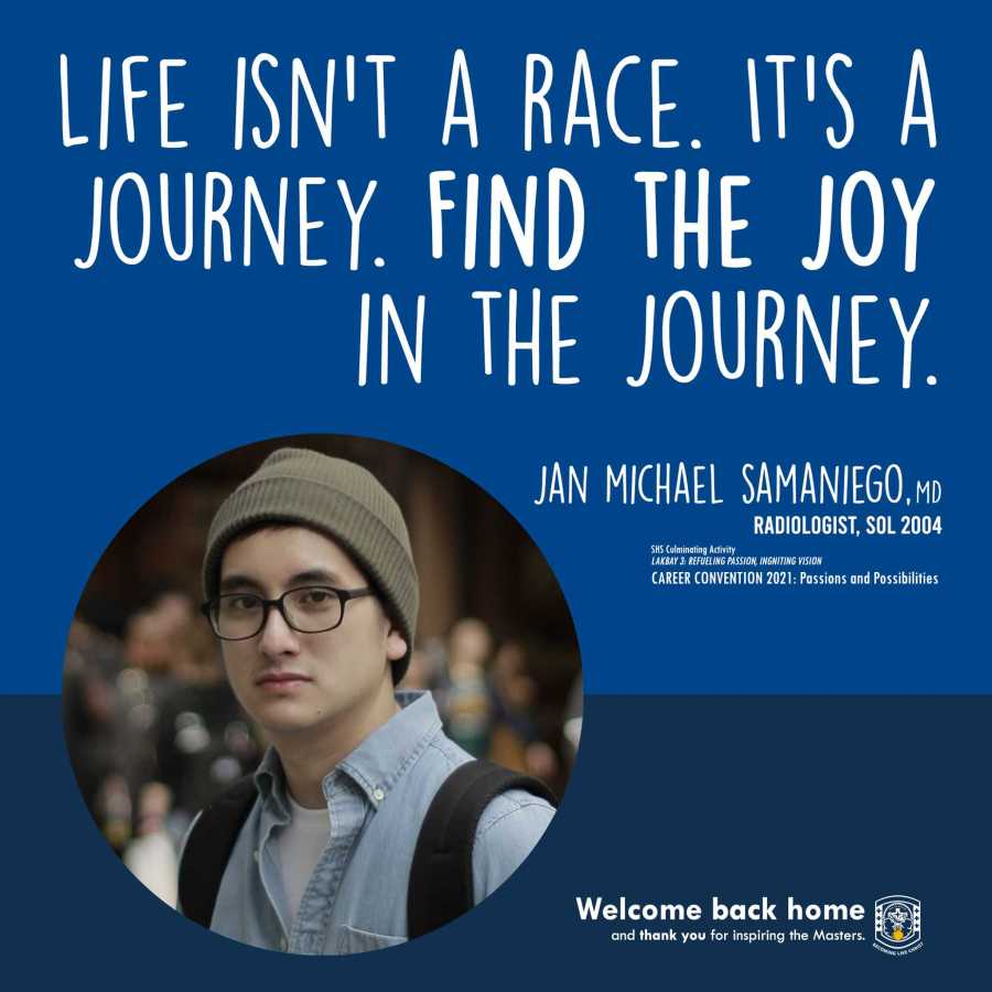 Life isn't a race. It's a journey. Find the joy in the journey.