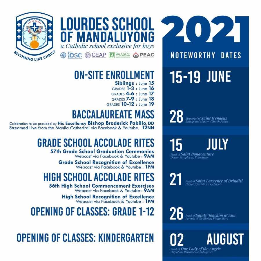 Lourdes School of Mandaluyong 2021