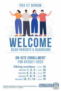 On Site Enrollment For AY2021 - 2022