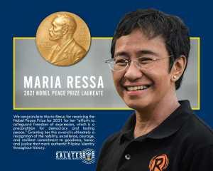 Maria Ressa 2021 Nobel Peace Prize Laureate